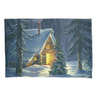 Christmas Snow Landscape (1 side) Pillowcase