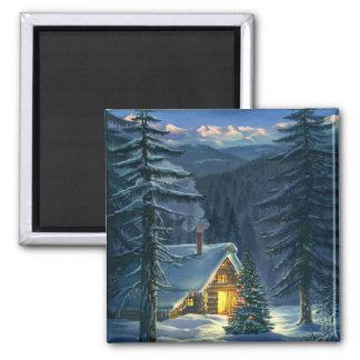 Christmas Snow Landscape Magnet