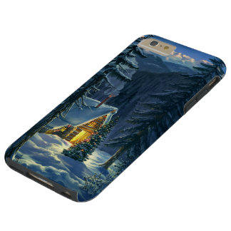 Christmas Snow Landscape Tough iPhone 6 Plus Case