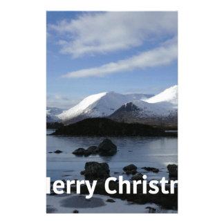 Christmas snow on Black Mount , Scotland Stationery Design