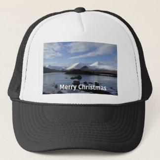 Christmas snow on Black Mount , Scotland Trucker Hat