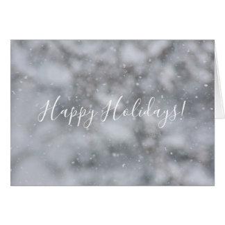 Christmas Snow Winter Snowflakes Snowy Greeting Card