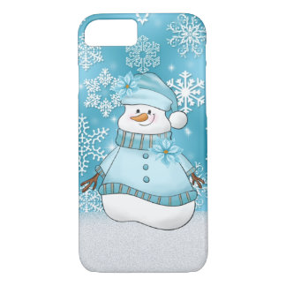 Christmas snow woman Holiday eight seven case