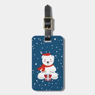 Christmas Snowbear Luggage Tag