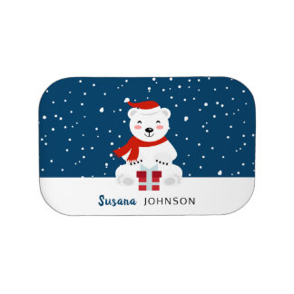 Christmas Snowbear Lunch Box