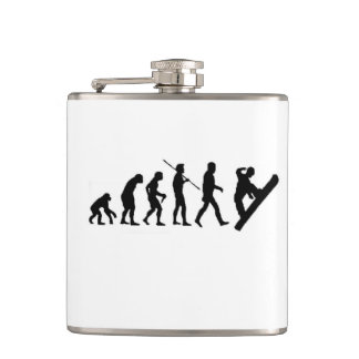 Christmas snowboard evolution snowboarding hip flask