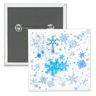 Christmas Snowfall 2 Inch Square Button