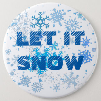 Christmas Snowfall 6 Inch Round Button