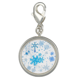 Christmas Snowfall Photo Charm