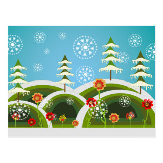 Christmas Snowfall Postcard