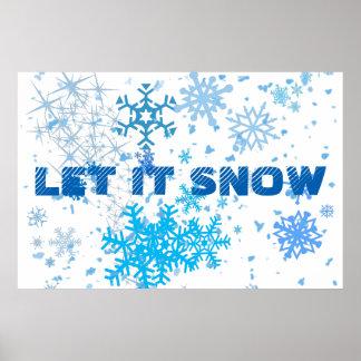 Christmas Snowfall Poster