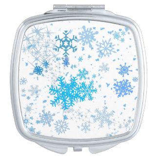 Christmas Snowfall Travel Mirror