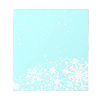 Christmas Snowflake Background Notepad