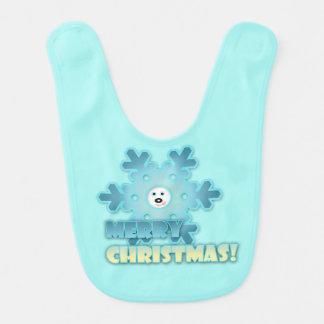Christmas snowflake bib