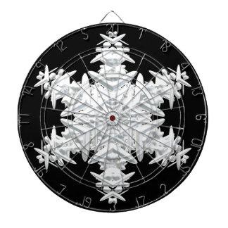 Christmas snowflake dart board