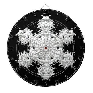 Christmas snowflake dart boards