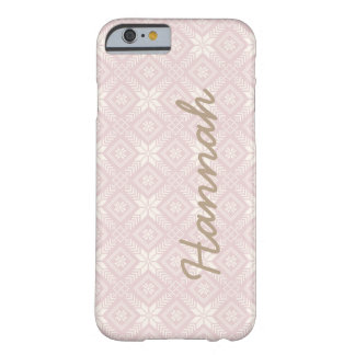 Christmas Snowflake Faire Isle/ Jacquard Monogram Barely There iPhone 6 Case