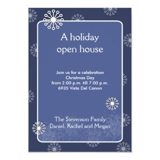 CHRISTMAS Snowflake Holiday Open House Party Personalized Invitations