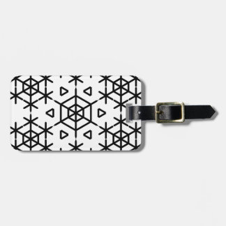 Christmas snowflake luggage tag