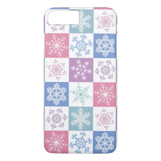 Christmas Snowflake Pastel Country Gingham Design iPhone 7 Plus Case