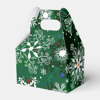 Christmas snowflake pattern favor box