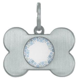Christmas Snowflake Pattern Gift Pet Name Tag