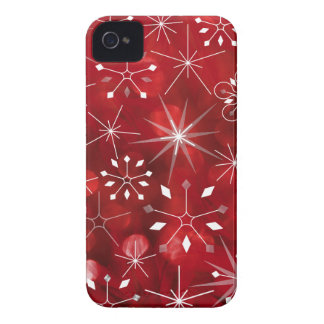 Christmas Snowflake Pattern iPhone 4 Cases