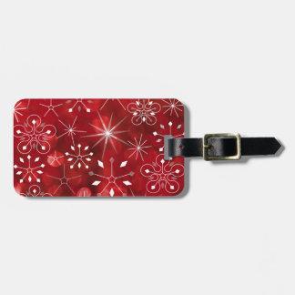 Christmas Snowflake Pattern Luggage Tag