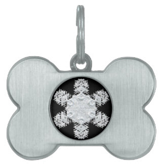 Christmas snowflake pet ID tag