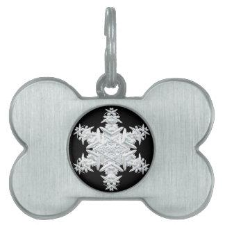 Christmas snowflake pet name tag