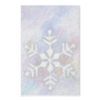 Christmas Snowflake Custom Stationery