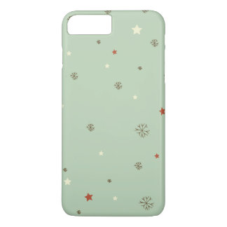 Christmas Snowflakes and stars iPhone 8 Plus/7 Plus Case