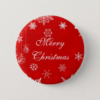 Christmas snowflakes design 2 inch round button