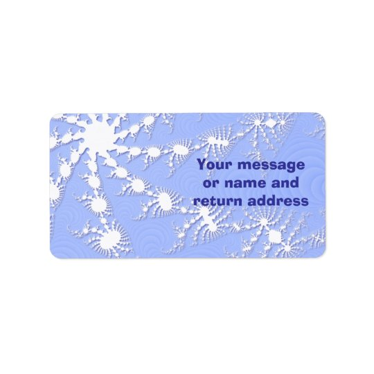Christmas Snowflakes Gift Tag Or Address Labels