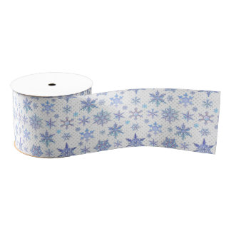 Christmas snowflakes grosgrain ribbon