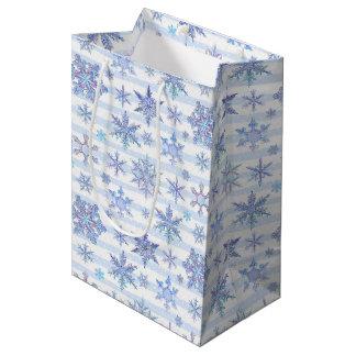 Christmas snowflakes medium gift bag