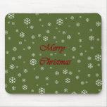 Christmas Snowflakes Mouse Pad