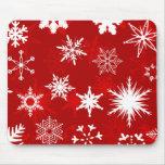 Christmas snowflakes mousepad