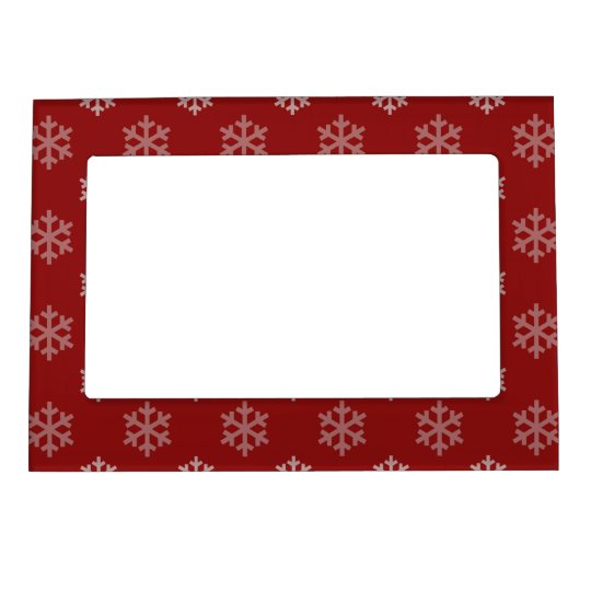 Christmas Snowflakes Pattern Magnetic Photo Frames