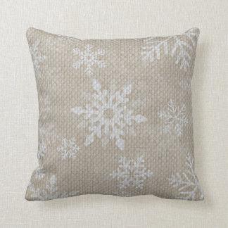 Christmas Snowflakes Pillow
