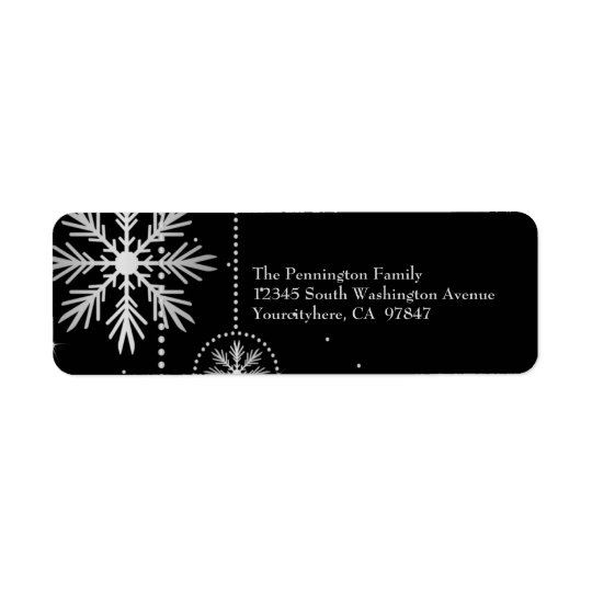 Christmas snowflakes return address labels