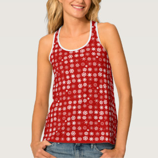 Christmas Snowflakes Tank Top