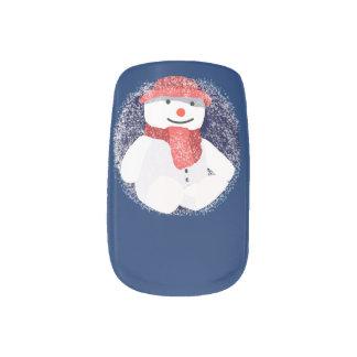 Christmas snowman art minx nail art
