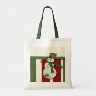 Christmas Snowman Tote Bags
