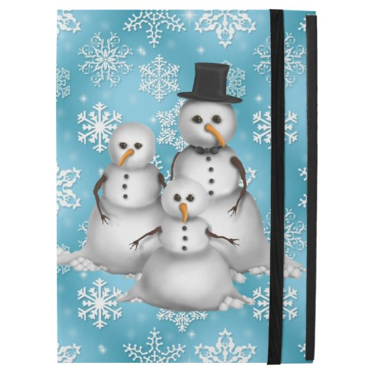 Christmas snowman blue snowflake iPad Pro case