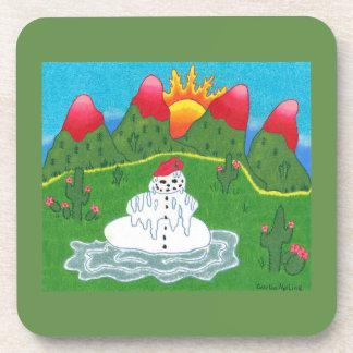 Christmas snowman coasters