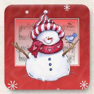 Christmas Snowman Cork Coaster