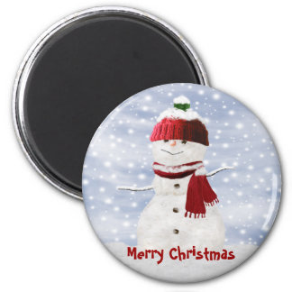 Christmas Snowman Customizable Magnet