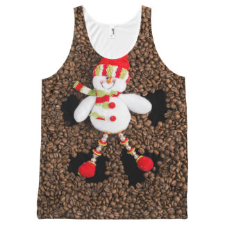 Christmas snowman decoration All-Over-Print tank top