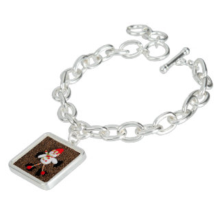 Christmas snowman decoration charm bracelet